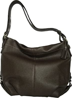 Coach Black Pebbled Leather Duffle Shoulder Bag 15064 118
