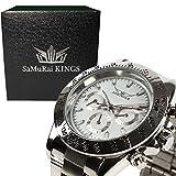 腕時計 メンズ ブランド 自動巻 ベルト ステンレス ギフト プレゼント 品質保証 防水 パッケージ付き (skud0004sw)