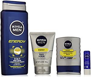 NIVEA Men 4 Piece Energy Collection Gift Set
