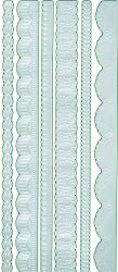 Martha Stewart Crafts Borders, 12-Inch Pearl