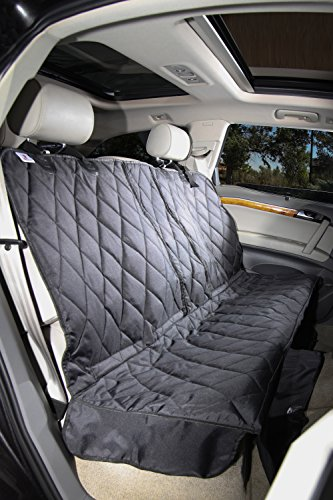 4Knines Regular Fitted Split Rear Seat Non-Slip Cover, Black (Split Rear Seat Covers compare prices)