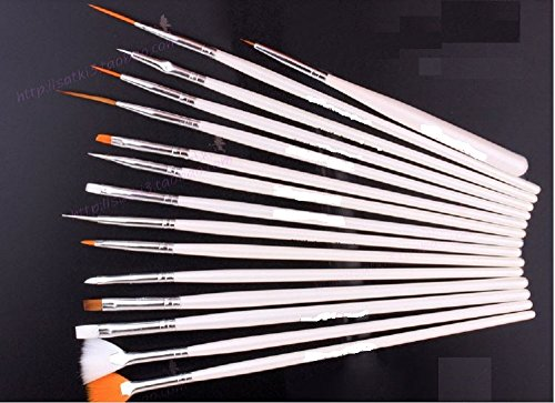 15本セット ネイルブラシ ジェルネイル アートブラシ 筆洗付き