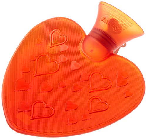 Transparent Heart Shaped Hot Water Bottle- Made in Germany by Fashy (Hot Water Bottle English compare prices)