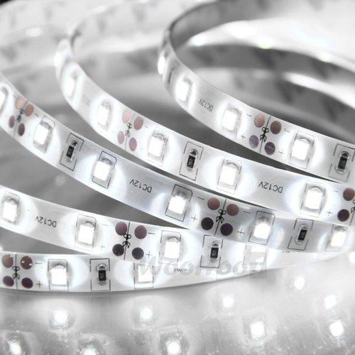 White 1-30M 3528 Smd 60 Leds/M Led Strips Light Non-Waterproof + 12V Power Adapter 15M