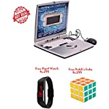 Lets Play Super Slim Laptop With 22 Activities+Free Kids Digital Watch Rs.299+Free Rubik's 3*3 Cube Rs.299