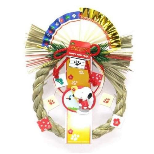 スヌーピー しめ飾り(羽根つき) 注連飾り お正月飾り