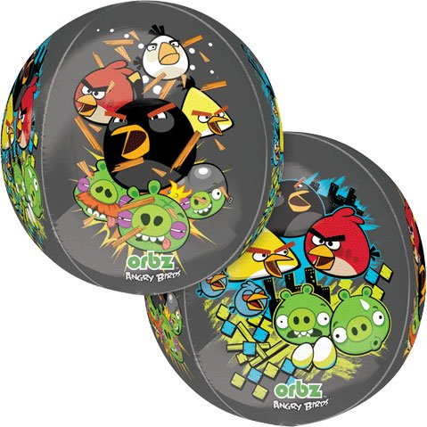 "Anagram International Angry Birds Orbz Balloon Pack, 16"", Multicolor"