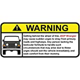 Jeep Wrangler Funny Warning Off Road Sticker, Decal, perfect gift