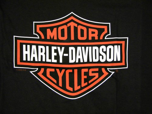 Harley Davidson Mens Black Short Sleeve T-Shirt, with Classic Harley-Davidson Orange and White Bar & Shield Logo. The Backside has the Famous St. Paul Harley-Davdson Logo, Featuring the Minnesota Capitol Building in St. Paul with its Famous Quadriga (Golden Horses), Men's Classic Tee Shirt, BLK-BS-SPHD-T, 3X-Large
