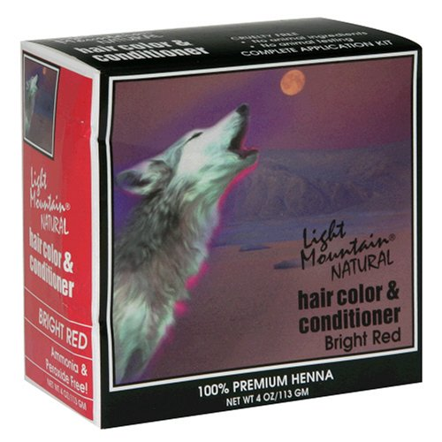 Light Mountain Natural Hair Color & Conditioner, Bright Red, 4 oz (113 g) (Pack of 3) (Light Mountain Henna Hair Color compare prices)