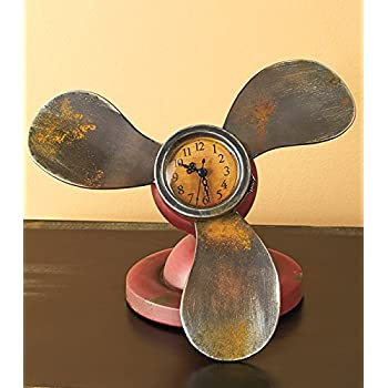 Vintage Propellers Table Clock