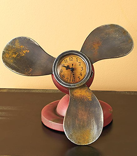 Vintage Propellers Table Clock 0