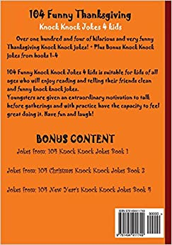 Amazon.com: 104 Funny Thanksgiving Knock Knock Jokes 4 ... Funny  Thanksgiving