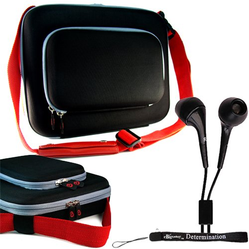 Sony Dvpfx950 9-Inch Portable Dvd Player Nylon Leash Shoulder Bag Carrying Case + Determination Hand Strap + Noise Cancelling Earphone In Ear
