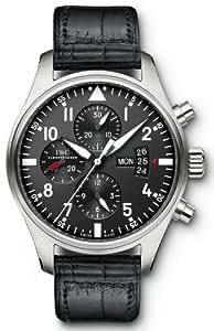 IWC Pilot Black Dial Chronograph Automatic Mens Watch