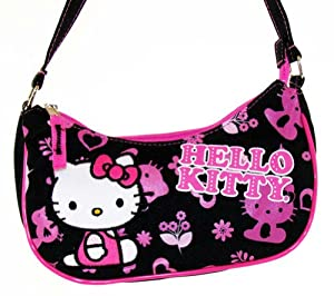 Sanrio Black and Pink Hello Kitty Purse Handbag 80674