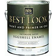 - HW34A0750-16 Best Look Interior Latex Eggshell Paint And Primer In One Enamel