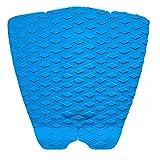 ロゴ無し サーフィン デッキパッド テールパッド スリーピース 3P サーフボード ショート ファンボード 水色 青  (ライトブルー)