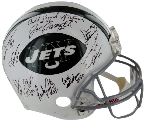 NFL New York Jets Members of the 1969 Super Bowl Championship Team Autographed Helmet at Amazon.com