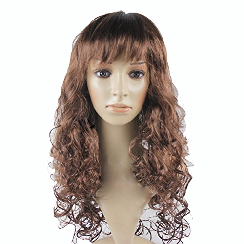 Cosplay Costume Party Long Big Wave Curly Hair Wig Periwig, Coffee