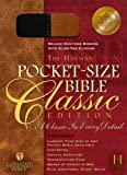 echange, troc  - The Holy Bible: The Holman Christian Standard Pocket-Size,  Black and Tan Suede Duo-Tone, Slide Tab Closure, Words of Christ in