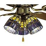 Meyda 27466 4 Inch W Tiffany Candice Fan Light Shade Ceiling Fixture