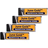 June Gold Lead Refills, 320 Pieces, HB #2 0.9 mm, Bold Thickness, Break Resistant Lead with Convenient Dispensers