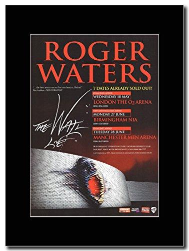 Pink Floyd-Roger Waters-London 02Arena 2011Magazine Promo su un nero Mount