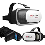 SUNKY - 3D VR Headset Glasses, VR Box Virtual Reality 3D DIY Video Movie Game Adjust Strap Cardboard For IPhone...
