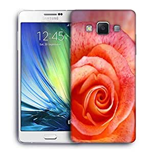 Snoogg Abstract Rose Printed Protective Phone Back Case Cover For Samsung Galaxy A7