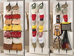 Handbag Organizer Over Door Bag Rack for 16 items: Amazon.co.uk: DIY ...