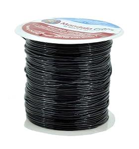 Mandala Crafts® Elastic Stretch Crystal String, Bracelet String , Bead String, 20 Meters, 0.8mm (Black)