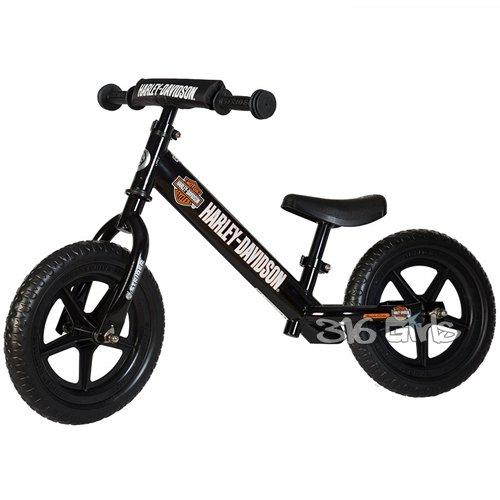 Strider - 12 Sport Balance Bike, Ages 18 Months to 5 Years, Custom Harley Davidson Block Black