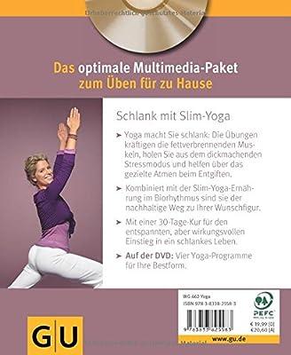Slim-Yoga mit DVD: Schlank mit Yoga und gesunder Ernährung (GU Multimedia)