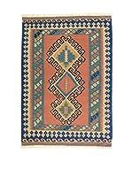 Eden Carpets Alfombra Kilim-P Salmón/Azul 183 x 123 cm