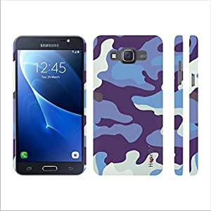 Heartly Army Style Retro Color Armor Hybrid Hard Bumper Back Case Cover For Samsung Galaxy Grand Prime 4G SM-G531F - Navy Blue