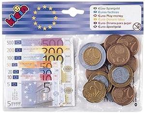 Klein - 9612 - Jeu d'imitation - Articles Épicerie / Caisse - Sachet Euros + Billets