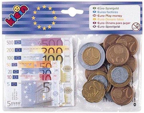 Klein - 9612 - Jeu d'imitation - Articles u00c9picerie / Caisse - Sachet Euros + Billets