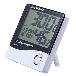 EWALKING Multi-function Alarm Clock Electronic Digital display Meter Standing Type Weather Humidity Hygrometer Thermometer Meter Gauge