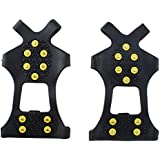 AGPtek® Non-slip Snow Step & Ice Cleats Anti-Slip Overshoes Studded Ice Traction Shoe Covers Spike Snow Shoes Crampons Cleats