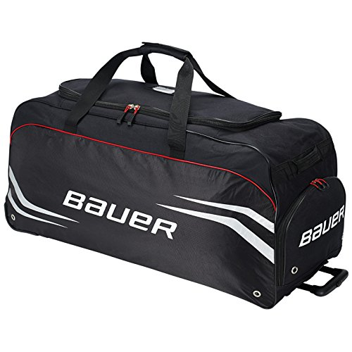 Bauer Premium S14 Large Hockey Wheeled Equipment Bag Black 1043348 (Wheeled Hockey Bag compare prices)
