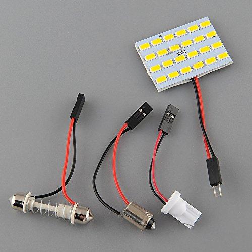 {Factory Direct Sale} (Pack Of 4) T10 Ba9S 24Led Panel 5730 Smd Lights Warm White Dom Lamp Light Bulb Car Cars Rv Festoon Adapter 12V