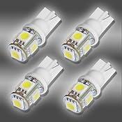 4x 194 168 5-SMD White High Power LED Car Lights Bulb : Amazon.com : Automotive