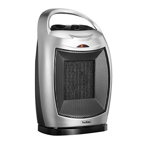 VonHaus 1500W Oscillating PTC Ceramic Electric Fan Heater (Garage Heaters Optimus compare prices)
