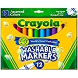 Crayola Count of 12 Ultraclean Washable Markers Color Max (58-7812)