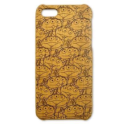 Woodケース iPhone5 (トイストーリー エイリアン総柄)