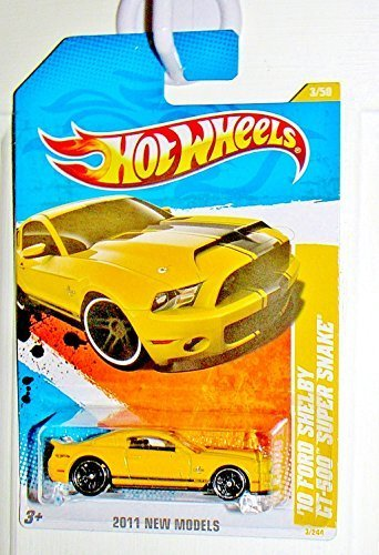 2011 Hot Wheels '10 Ford Shelby GT-500 Super Snake Yellow 3/244 (2011 Hw Premiere 3/50)
