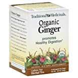 Traditional Medicinals Herbal Tea, Caffeine Free, Organic Ginger, 16 ct.