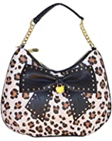 Betsey Johnson Hopeless Romantic Hobo Handbag Black Multi
