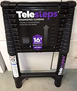 Telesteps 1600et Osha Compliant 16 Ft Reach Black Tactical